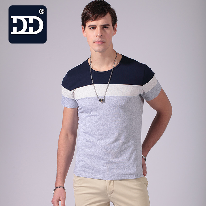 2017 new summer fashion men 39 s t shirt casual patchwork for Latest shirts for mens 2017