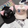2017 Горячие Продажа Взрослых Casquettes Весна Лето Новый Бейсболки корея Harajuku Мультфильм Розовый Шляпы Для Женщин Хип-Хоп Snapback Cap