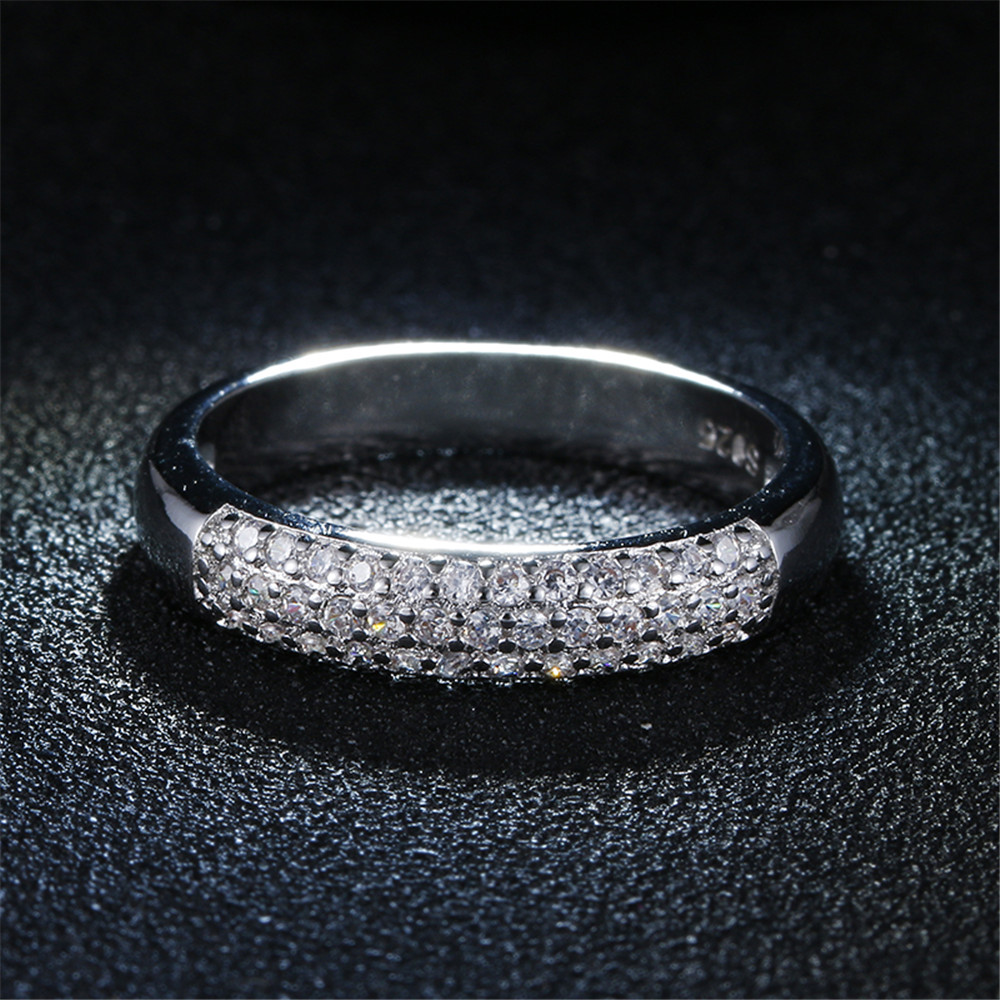 Jewelry & Access. ...  ... 32377773435 ... 2 ... DODO Luxury Full AAA Zircon Rings For Women Silver Color Band Rings Jewelry Promise Wedding Anel Statement Anillos Wholesale ...