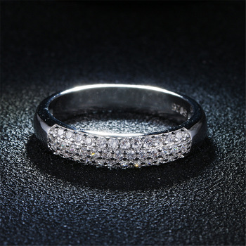 DODO AAA Zircon Rings Silver Color Band Rings Jewelry 1