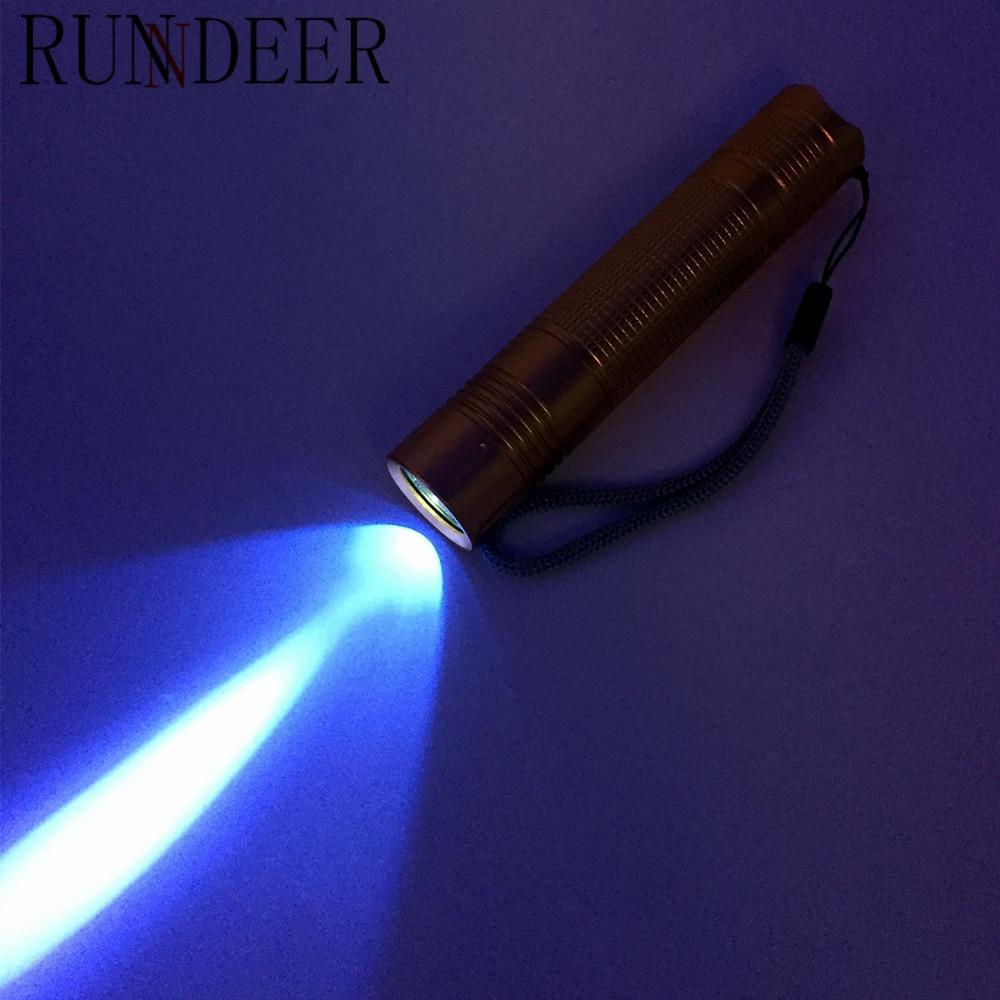 3W UV Lamp purple light Ultraviolet 365nm UV LED Flashlight Light Lamp use 18650 Rechargeable Battery