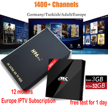 6 months French Spain Live TV Cine IPTV Box 1150+ plus Channels H96 pro+ 4K S912 3GB+32GB Android 6.0 KODI Smart TV Media Player sweden iptv box tx9 pro s912 android 7 1 3gb 32g android tv box nordic israel nertherland world ip tv 5000 channels smart tv box