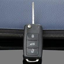 3 Buttons Flip Folding Car Remote Key Shell Fit For V W Golf Mk6 Tiguan Polo Passat CC SEAT Skoda Octavia Blank Case Fob