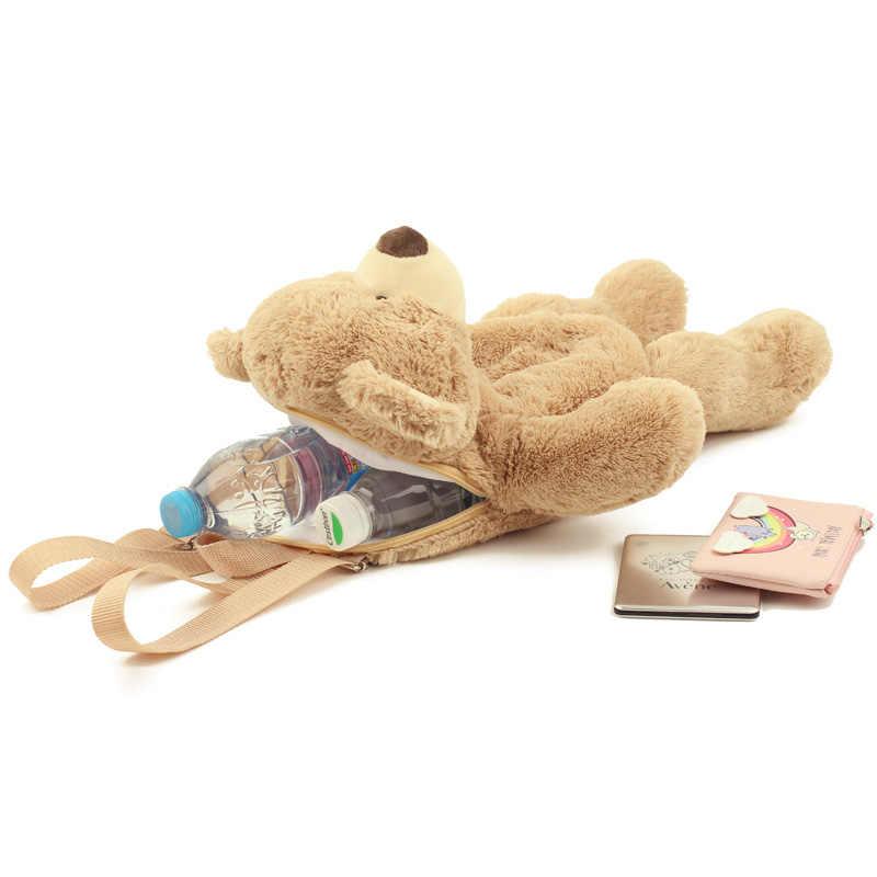 40 centímetros Crianças Bonito brinquedo de Pelúcia Lindo Urso Dos Desenhos Animados Canguru Mochila Schoolbag meninas meninos do jardim de infância presente de aniversário presente de Natal