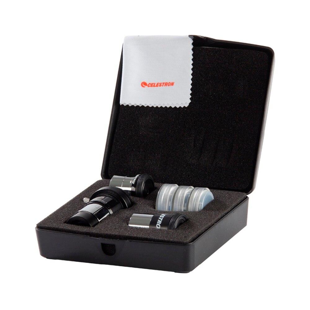 Celestron Spotting Scopes 94307 Telescope Accessory Kit 1 25 15mm Kellner 6mm PL Eyepiece 2x Barlow
