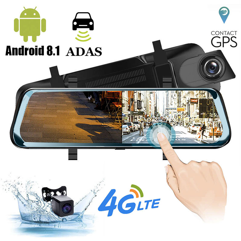 HGDO Car DVR Camera Video-Recorder Media Dash-Cam Rear-View-Mirror Wifi Stream ADAS Android
