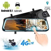 HGDO ADAS Car DVR Camera 10Android 8.1 Stream Media Rear View Mirror FHD 1080P WiFi GPS Dash Cam Registrar Video Recorder