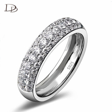 wedding ring white gold plated cubic zirconia diamond jewelry Valentine Gift for girl engagement ring DD037