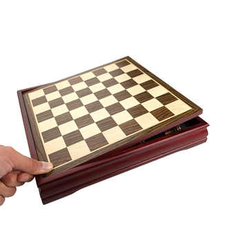 New Pattern Chess Pieces Wood Wood Coffee Table Professional Chess Board Family Games Chess Set Traditional Games Yernea