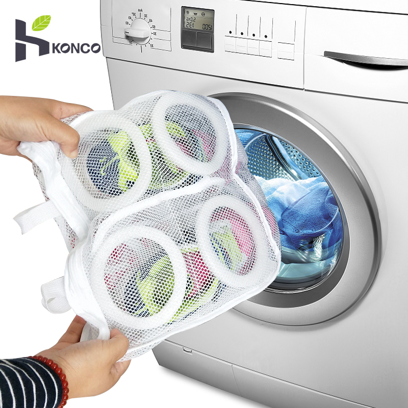 Konco Laundry Bag Shoes Washing Nesh Bag Shoes Drying Bags Laundry Hamper Washing Machine Bags For Shoes