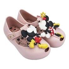 Melissa girls sandals 2019 Twins Mickey Animal Pattern Shoes New Jelly Boy Sandals Girls Non-slip Kids Sandal Toddler