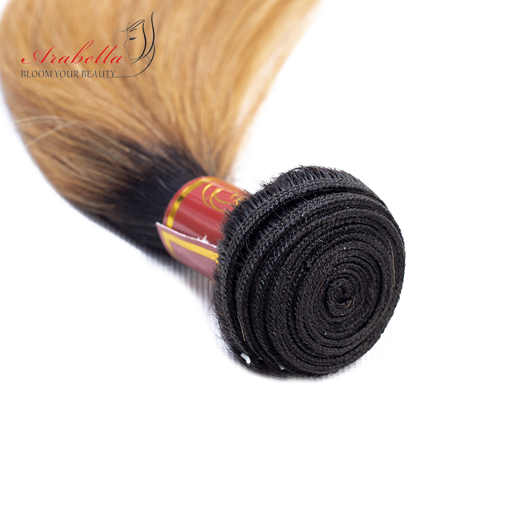 Straight Hair Bundles With Closure 1b/27 Ombre Arabella  Hair  100%  Bundles With Closure 4