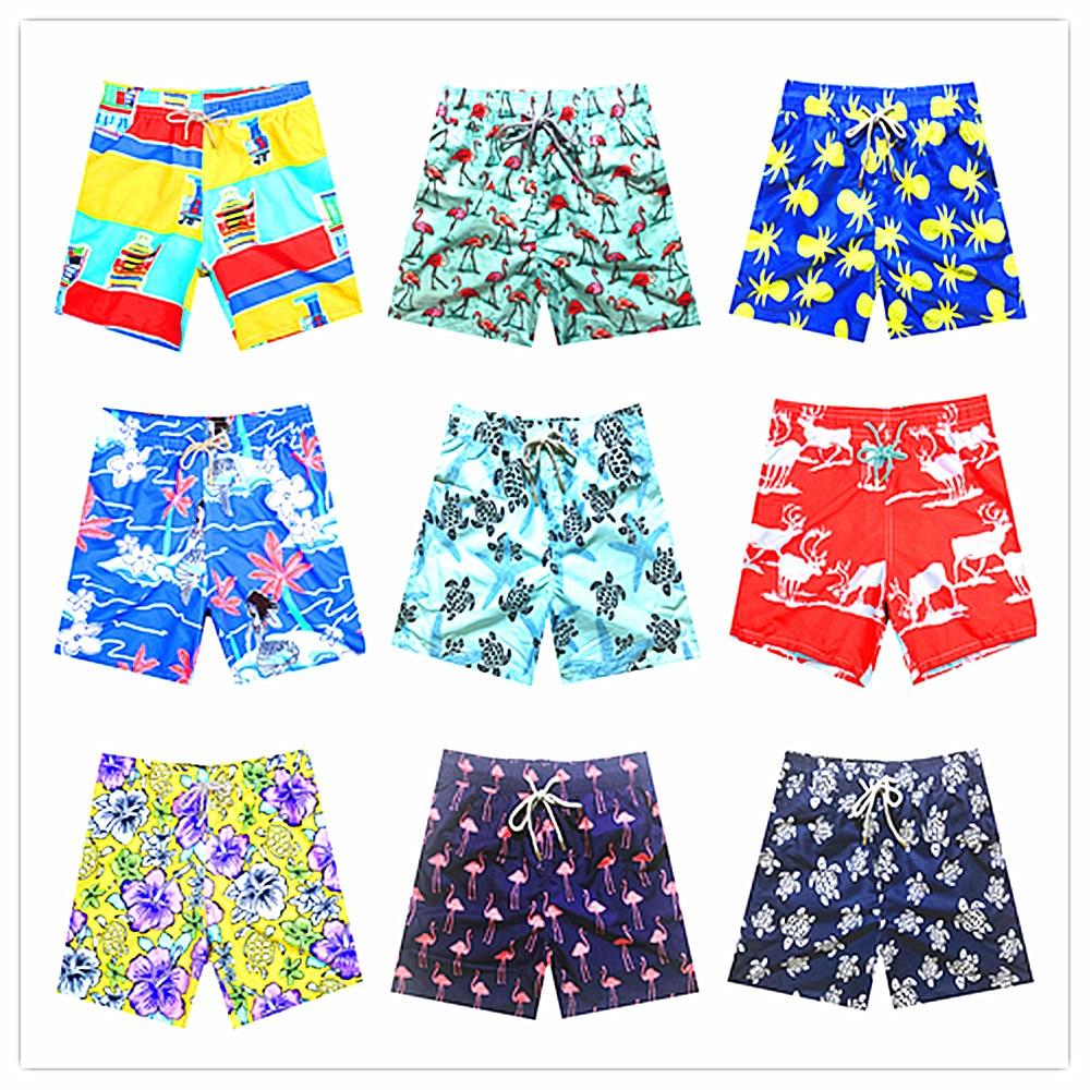 Wholesale Retail 200 Colors 2019 Brand BREVILE PULLQUIN Swimwear Men Bermuda Turtle Vilebre Beach   Board     Shorts   100% Quick Dry