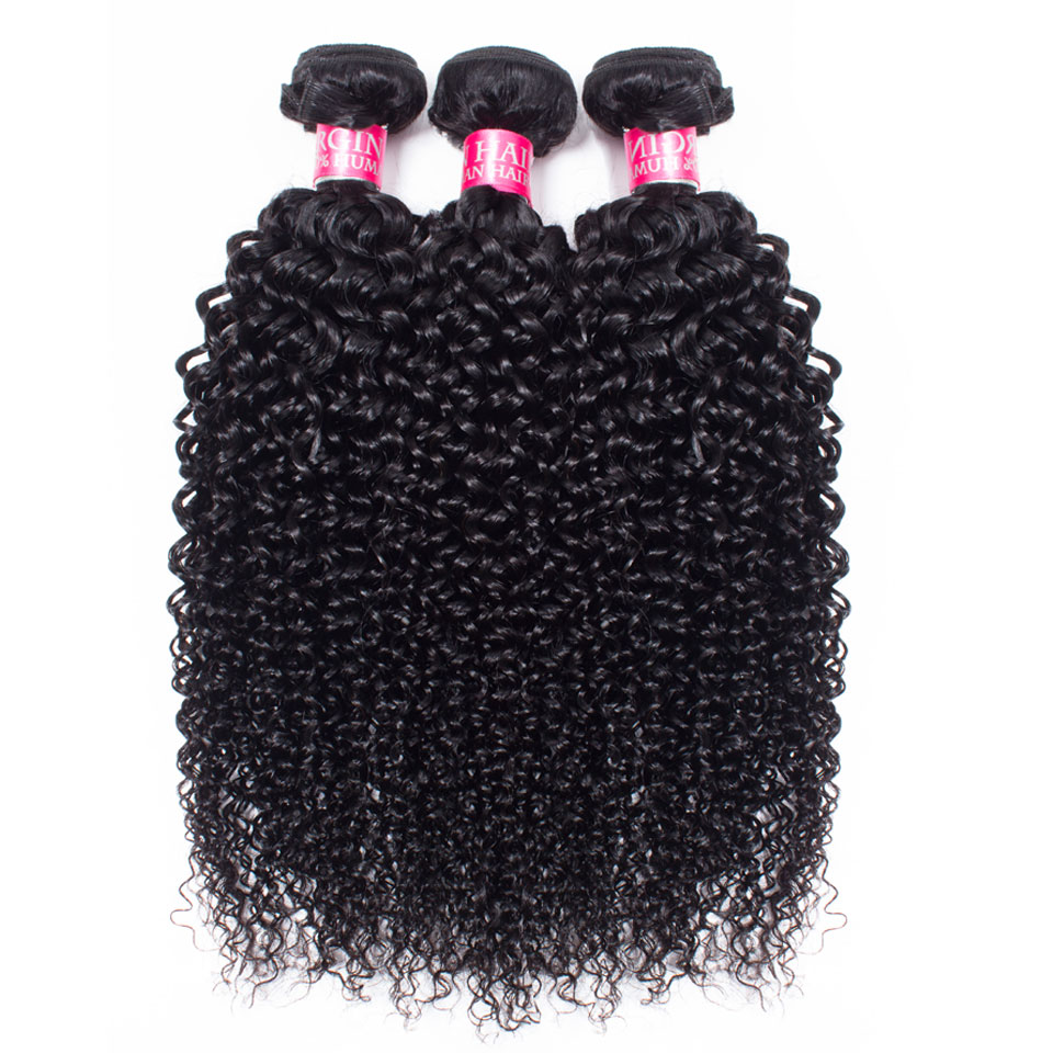 mongolian Afro kinky curly bundles with closure human hair bundles with closure deep curly brazilian hair weave bundles with closure