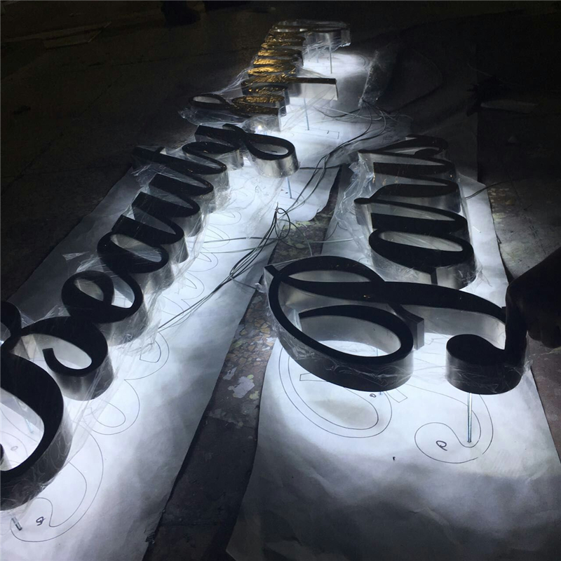 Factory Outlet  Advertising  Back Lit Stainless Steel  Led Illuminated Letters