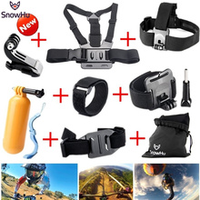 SnowHu For Gopro Hero 5 Accessories Strap Monopod Floating Bobber Mount for Go pro Hero 5 4 3+xiaomi yi action camera sjcam GS22