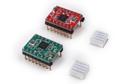 3D Kit de impresora A4988 StepStick paso a paso conductor + disipador de calor para Reprap Pololu 3D de controlador de Motor 5 unids/lote
