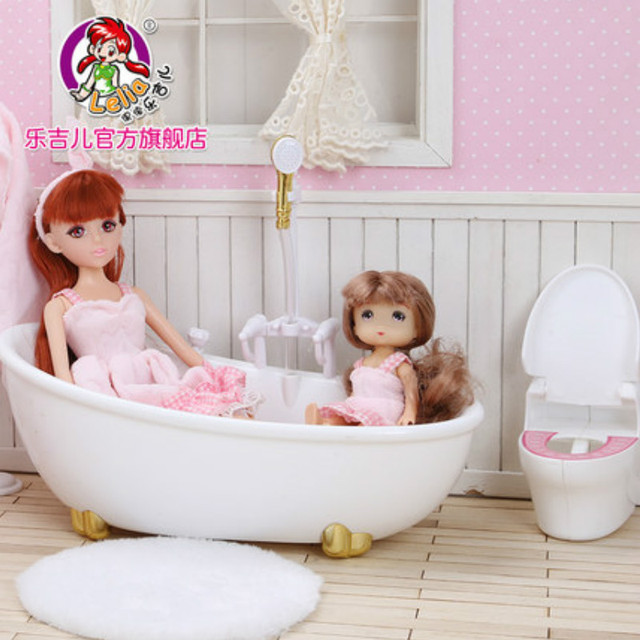 Lelia Dream Doll Classic Girls Toys Bubble Bath Toys Bathroom Game