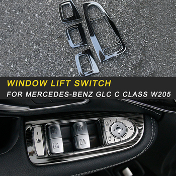 For Mercedes benz C class w205 GLC window lift switch cover frame trim cover sticker accessories auto