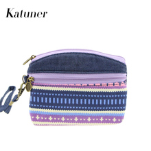Hot Ethnic Canvas Kids Coin Purse Women Clutch Key Card Double Zipper Purses Children Coin Wallet For Girls Monedero Mujer KB028