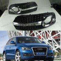 2 шт. Белый светодиодный Габаритные огни DRL Дневной свет вождения Туман свет лампы для Audi Q5 2009 2013