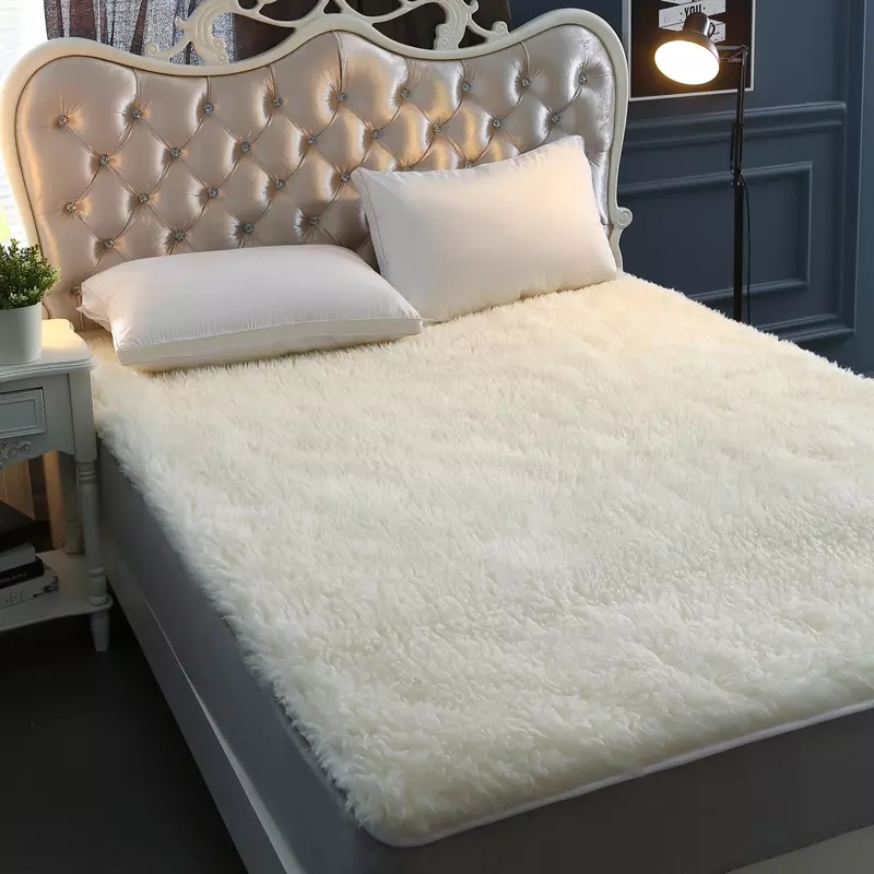 Big Size Sheep Fur Carpet For Bed Mat 180*200cm,  Home Decoration Wool Carpets For Living Room,sheep Fur Matress ,wool Bed Cover