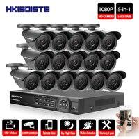 16CH AHD DVR 16 шт. 2.0MP 1080 P камера видеонаблюдения системы открытый водостойкий ИК Ночное Видение HD комплект 1080 P