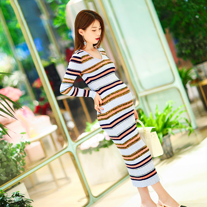 Pregnant Maternity Women Autumn Dress Clothes Feeding Gestantes Maternity Tunic Wear Gown Skirt Pregnancy Clothes 502178 lish berry clothes for pregnant women pregnancy skirt maternity korean style pregnant lady clothes women maternity skirt kr1272