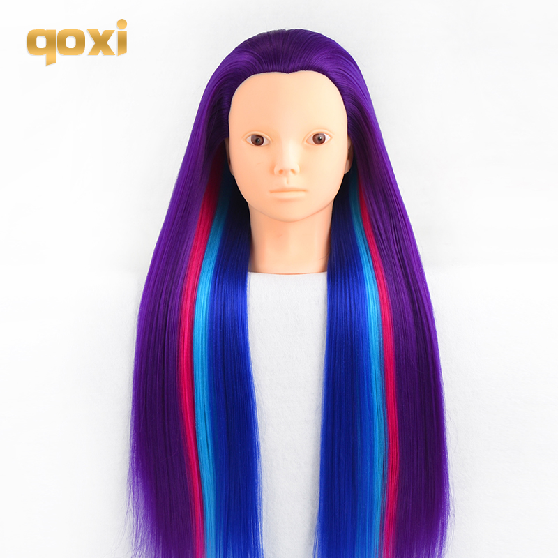 Qoxi Professional training heads with long thick hairs practice Hairdressing mannequin makeup dolls hair Styling tete for saleQoxi Professional training heads with long thick hairs practice Hairdressing mannequin makeup dolls hair Styling tete for sale