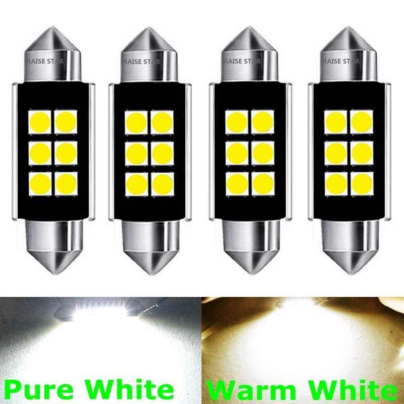 4pcs Festoon 31mm 36mm 39mm 41mm LED Bulb C5W Super Bright 3030 SMD Canbus Error Free Auto Interior Doom Lamp Car Styling Lights