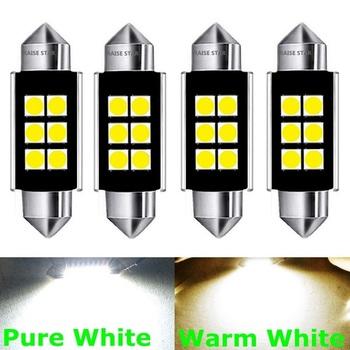 4 sztuk Festoon 31mm 36mm 39mm 41mm żarówka LED C5W Super Bright 3030 SMD błąd Canbus bezpłatne żarówka do lampki we wnętrzu samochodu Car Styling światła tanie i dobre opinie RAISE STAR CN (pochodzenie) Lampki do czytania Other Festoon-36mm 12 v Uniwersalny c 5w