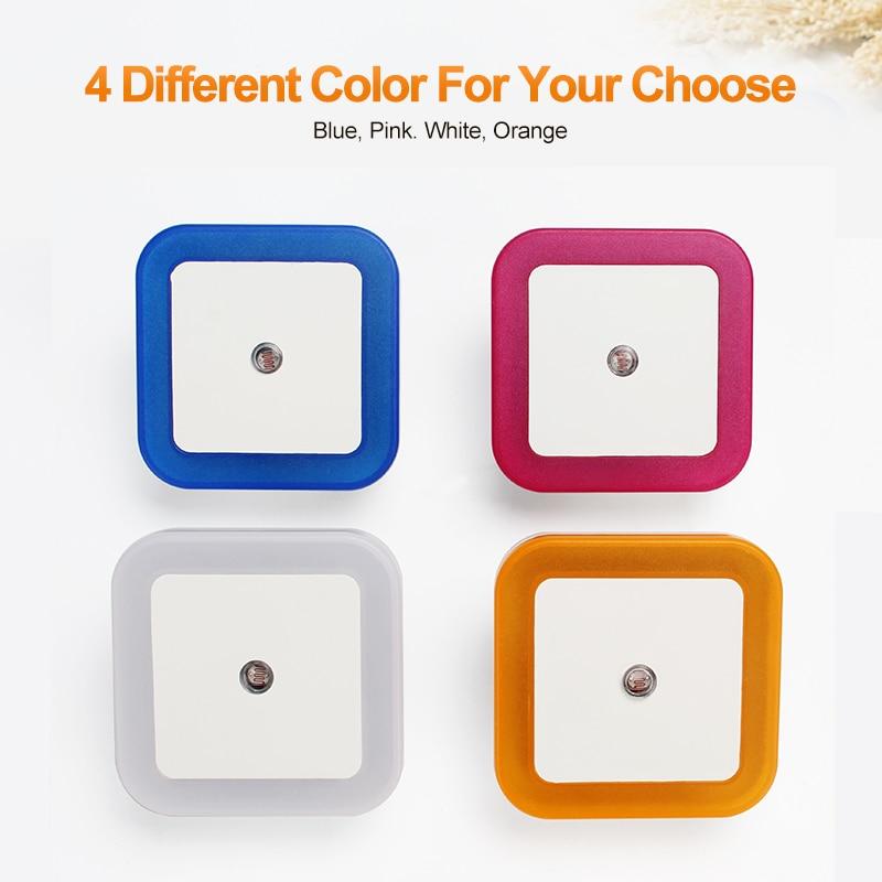 LED Night Light Mini Light Sensor Control 110V 220V EU US Plug Nightlight Lamp For Children Kids Living Room Bedroom Lighting 5