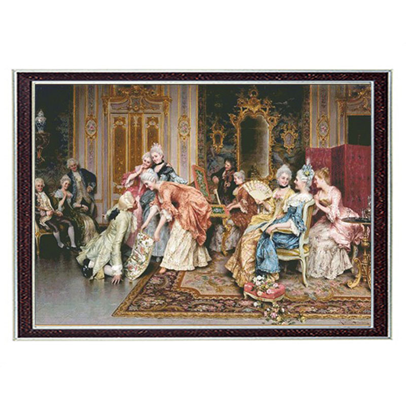 Golden Panno,Needlework,Embroidery,DIY Floral Painting,Cross Stitch,kits,14ct Noble Cross-stitch,Sets For Embroidery,christmas
