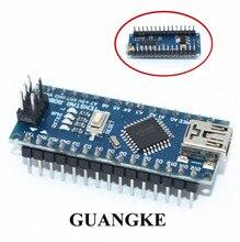 Livraison gratuite! 100 pièces Nano 3.0 contrôleur compatible avec nano CH340 USB pilote pas de câble NANO V3.0