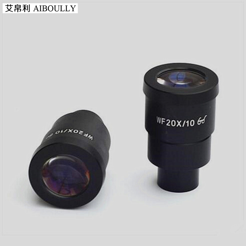 For the stereoscopic microscope wide-angle eyepiece large field of view high eye point 20 times aperture interface 30mm цены