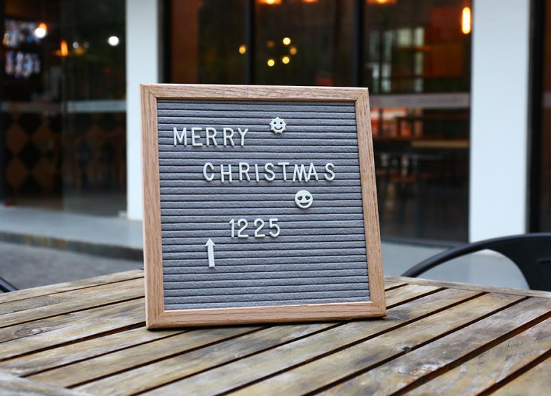 Changeable Felt Letter Board Menu Message Bulletin Board ...