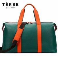 Лаконичный Для Мужчин's Сумки натуральная кожа путешествия сумки Лоскутная большой Ёмкость на молнии модная сумка для путешествий LN9355