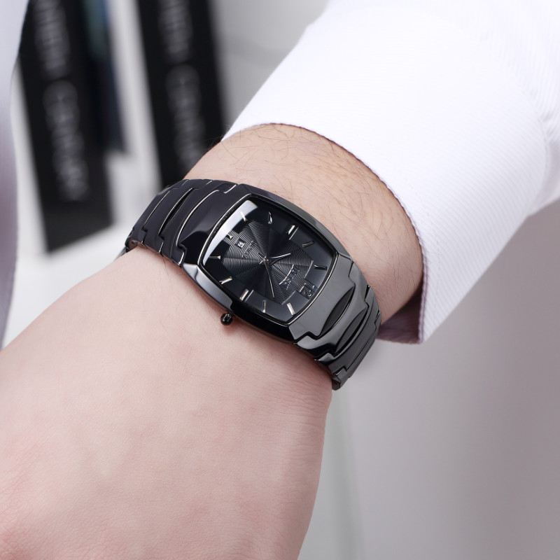 DALISHI Brand Men Quartz Watch Male Business Dress Wristwatch Men Casual Ceramic Watch Rectangular Dial Men Watch Reloj Mujer jubaoli 1119 casual male quartz watch with multiple sub dial