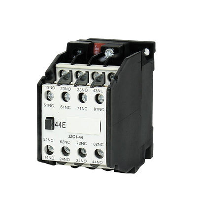 JZC1-44 AC Contactor Type Relay 380V 50Hz Coil Voltage 3-Phase 4NO + 4NC 1set my4nj dc 12v coil 4no 4nc green led indicator power relay din rail 14 pin base mini relay