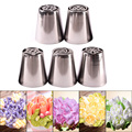 5pcs Stainless Steel Cutters Professional Cake Decorators Russian Pastry Nozzles Piping Tips for the Kitchen Baking