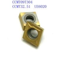 vp15tf ue6020 20PCS CCMT09T304 / CCMT32.51 VP15TF / UE6020 / US735 כלי CNC כלי קרביד כלי רכב סיבוב פנימי מחרטה כלי מחרטה כלי (3)