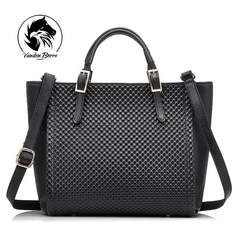 ФОТО Brand Fashion Women Tote Bag Genuine Leather Bag Women Solid Handbag Ladies Shoulder Bag