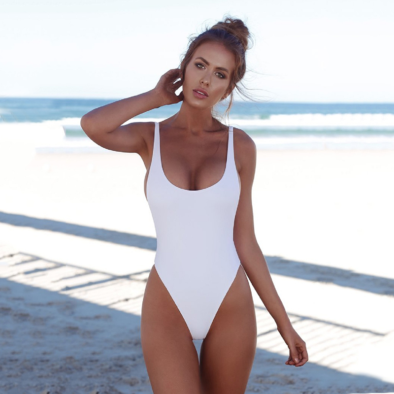 Wade Sea One Piece Swimsuits Sexy 2018 Solid Women Bathing Suits Backless Swimwear Female Biquini Summer Beach Wear 4