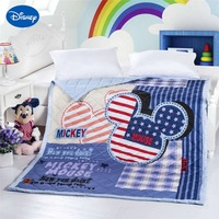 Blue Cartoon Minnie Mouse Shaped Quilts Comforters Bedding Cotton Cover 150*200cm Summer Boys Baby Bedroom Decor American Flag
