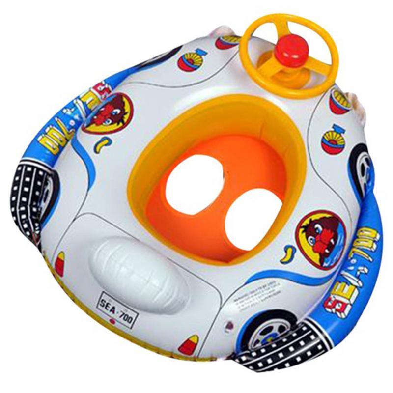 Kids Swimming Rings Wheel Horn Inflatable Baby Pool Swim Ring Seat ...