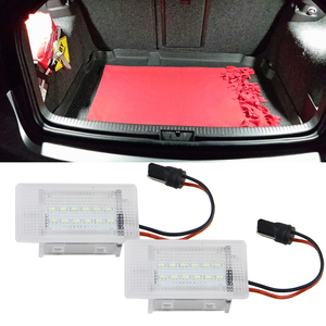 2pcs/pair 18 SMD 3528 LED Trunk Luggage Comparment Light for Focus MK198-04 Escort Fiesta Cabriolet Granada Scorpio 12V Lighting