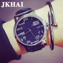 Korean Gigh School Students Fashion Leisure Metrosexual Harajuku Retro Leather Watchband Large Dial Watches the Tide
