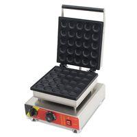 Free Shipping 25 PCS 110v 220v Electric Pancakes Maker Poffertjes Maker Grill Waffle Makers