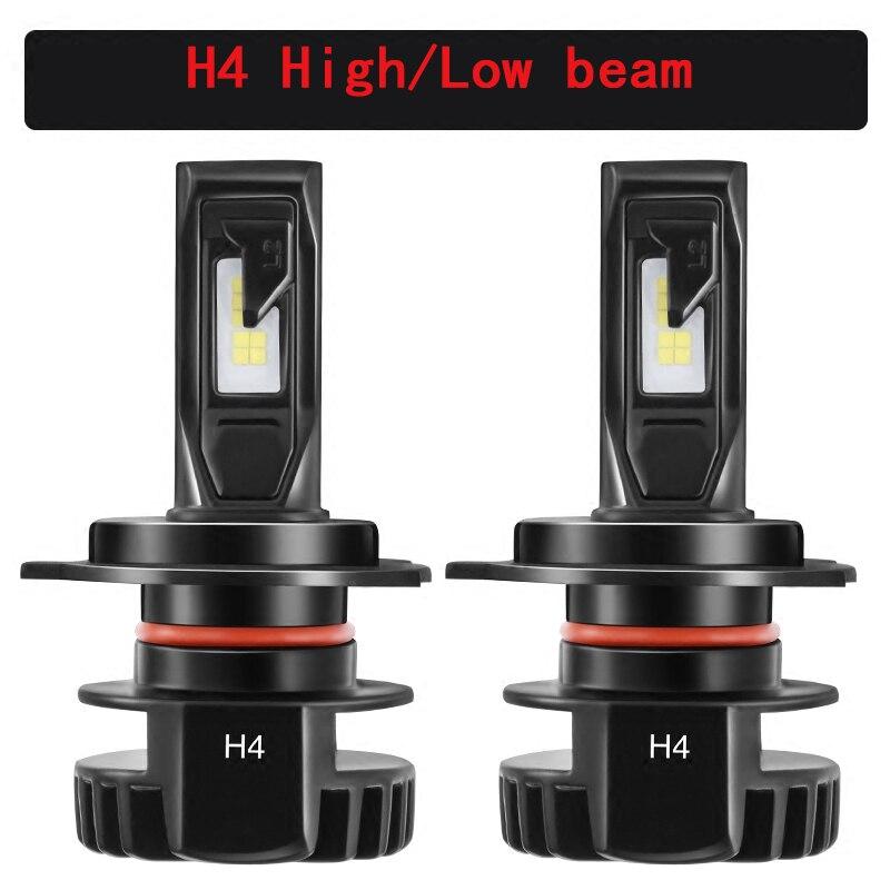 H1 H4 H7 H11 9005 9006 HB3 HB4 9012 Led Auto Headlight bóng đèn Ô Tô Đèn Sương Mù 12 V Xe Ô Tô Đèn Pha Cao Thấp Chùm Ánh Sáng