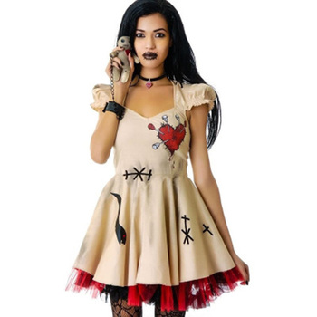 2018 gorąca sprzedaż fantazja karnawał Halloween kostiumy dla kobiet dziewczyn Harley Quinn Cosplay straszny Sexy sukienka na imprezę